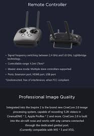 dji inspire 2 drone goes up to 58mph comes with carrying case