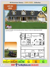 modular home all american homes cape cod kiden plan price