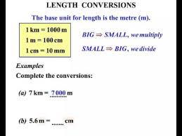 6th grade length conversions i youtube