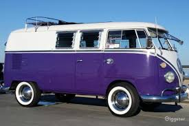 volkswagen purple rent 1965 volkswagen van car transportation for film photoshoot