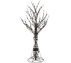 santa s best 4 all season prelit brown wire tree with rgb