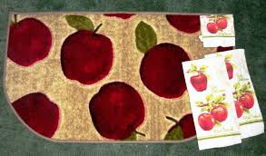 Apple Kitchen Rug Sets Apple Rugs For Kitchen Home Design Ideas And Pictures