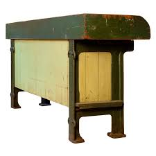 iron kitchen island kitchen island or potting table with zinc top and iron circa
