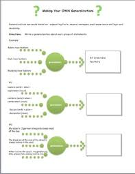 generalizations a reading strategy worksheet by using your