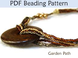 tutorial beading necklace images Beading tutorial pattern necklace multi strand beaded jewelry JPG