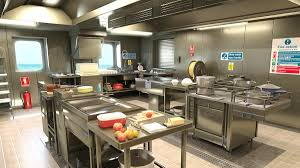 Fast Food Kitchen Design Photo Realistic 3d Visualizations Intercad Ship Design