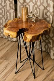 Rustic Chic Reclaimed Urban Wood Live Egde Wood Slab Tables Made In