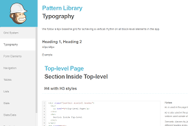 pattern library mailchimp nordic design