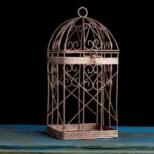 rose gold bird cage rose gold wedding decor pink gold candle