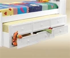 white captains bed with trundle and storage hollywood thing