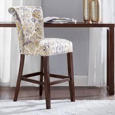 kitchen ideas upholstered gray counter stool modern bar stools