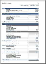 Income Statement Excel Template Free Income Statement Template For Excel 2007 2016
