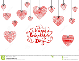 happy valentines day banner heart and typographic happy valentines day for banner
