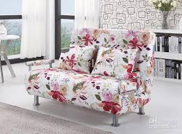 floral sofa 2018 polyester cloth sofa bed modern style floral pattern ds010d2