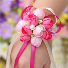 wrist corsage supplies 5piecs lot handcrafted flower bouquet for wedding prom