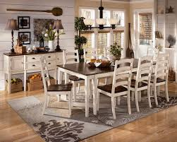 Dining Room Tables And Chairs For 8 Hollyhock Distressed White Dining Room Set From Homelegance 5123