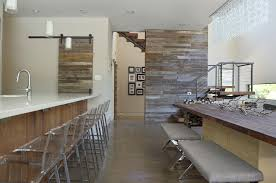 reclaimed wood wall table reclaimed wood wall with sliding barn doors dining room contemporary