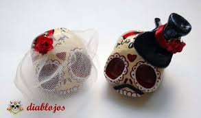 skull cake topper wedding sugar skulls cake toppers and groom mexican day of