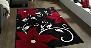 Black And White Rugs Red Black And White Rug Black Red White Floral Rug On Ebay Seller