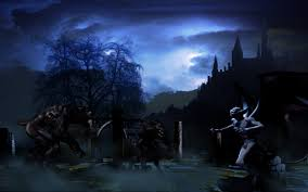 really scary halloween background dark evil vampire lycan underworld horror scary creepy spooky