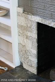 How To Cover Brick Fireplace by Brick Fireplace Makeover With Airstone Pine And Prospect Home