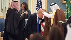president trump receives saudi gold medal cnn video