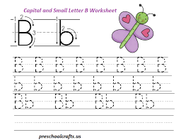 letter b worksheets preschool and kindergarten