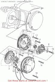 honda c90 cub england contact breaker spark advancer schematic