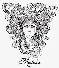 imagen blanco y negro en illustrator ilustracion en blanco y negro medusa la mitología griega plug