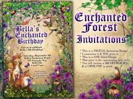 Debut Invitation Card Enchanted Fairy Wood Birthday Party Magical Party