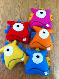 little felt monster plushies felt pinterest plushies