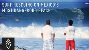 surf rescue on mexico u0027s most dangerous beach playa zicatela in