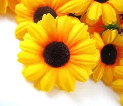 Gerbera Daisies Amazon Com 100 Silk Yellow Sunflower Gerbera Daisy Flower Heads