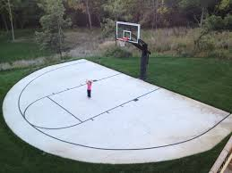early home decor a backyard half court with striping is can be an inspiring early
