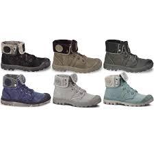 Esszimmerst Le Leder Blau Palladium Boots Herren Damen Stiefel Pallabrouse Baggy Grau Blau