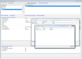 saving dialog contents to a sql database