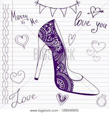 wedding drawings sketch shoes on vector u0026 photo bigstock