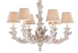 coral coastal chandelier decorated with style