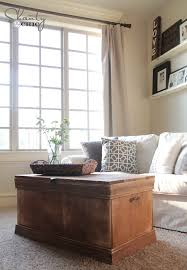 trunk coffee table diy pottery barn inspired chest coffee table shanty 2 chic
