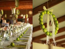 Apple Centerpiece Ideas by Creative Idea Table Decoration With Green Apples Decor And Green