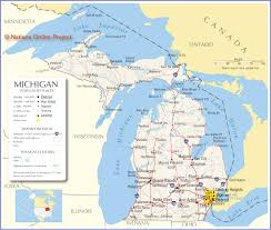 Map Of Ann Arbor Michigan Of Michigan