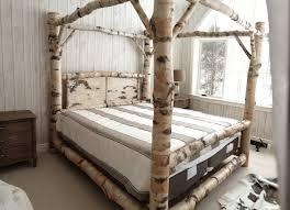 birch log canopy bed stauffer woodworking birch log canopy bed