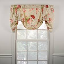 Linen Valance Ellis Curtain Sanctuary Rose Lined Tie Up Valance 3 Colors