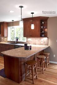 small kitchen design with peninsula pictures finished fancy