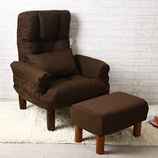 Accent Chair For Bedroom Modern Living Room Chair And Ottoman Fabric Upholstery Furniture