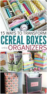15 ways to make cereal box organizers cereal upcycle and crazy