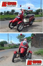 honda spacy tilting reverse trike motor modifikasi rwin