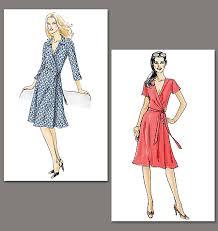 design pattern of dress vogue 8379 wrap dress conversion poldapop designs