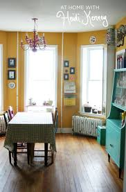 Yellow Dining Room Table by Love It And Its Almost The Same Shade Of Paint Thats On Our Walls