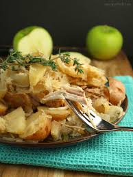 slow cooker pork chops with sauerkraut and apples u2013 an amish new